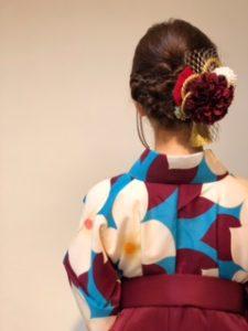 袴、髪型、アップスタイル