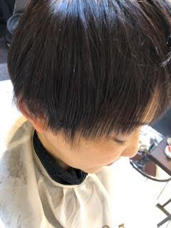 ヘナカラーをされている髪に縮毛矯正の写真